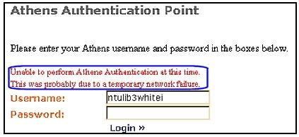 Temporary network failure
