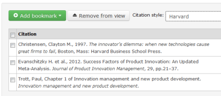 RLMS - My Bookmarks - Citation