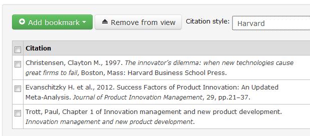 RLMS - My Bookmarks - Citation
