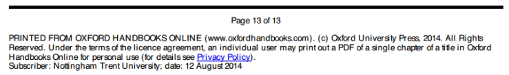 Oxford Handbooks Online -  download limits