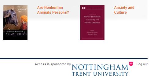 Oxford Handbooks Online - branding