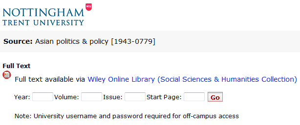 Wiley Online Library (Social Sciences & Humanities Collection)