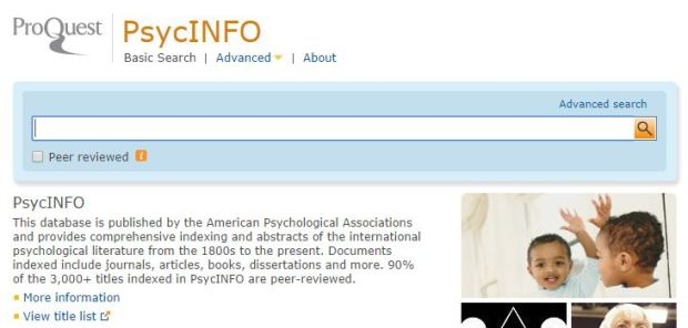 PsycInfo - ProQuest