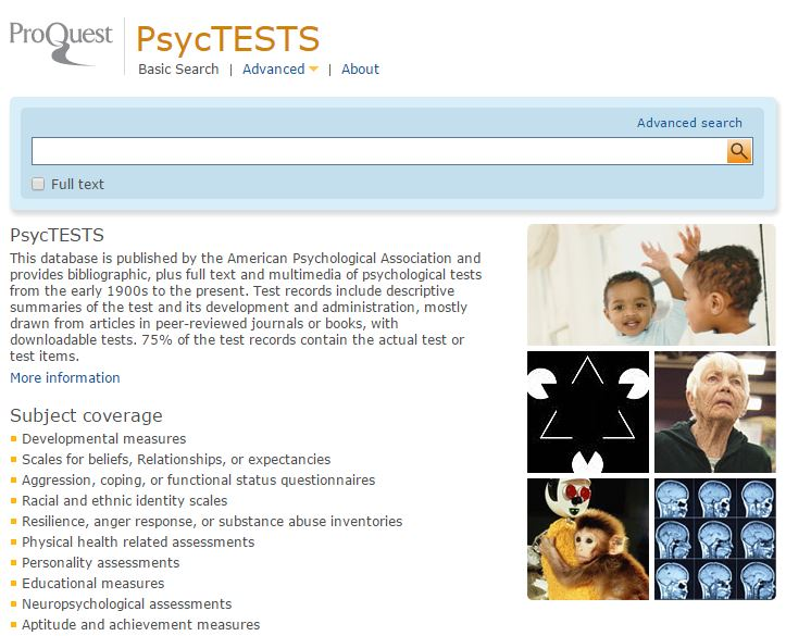 PsycTESTS - ProQuest