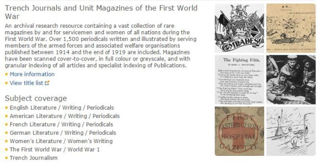 Trench Journals and Unit Magazines of the First World War