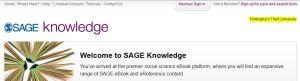 Sage Knowledge - eBook - NTU login confirmed