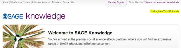 Sage Knowledge - eBook - NTU login confirmed