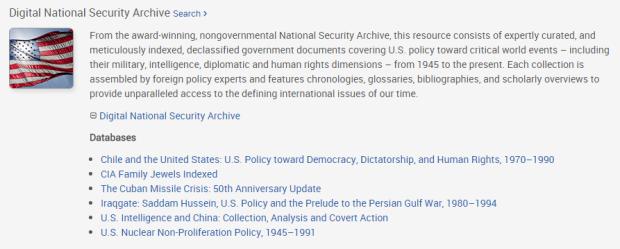 DNSA - ProQuest - 2015