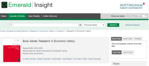 Emerald Insight eBooks - 2015 additions to Library OneSearch