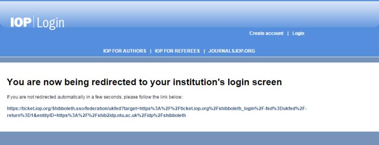 OP Science - eBooks - Shibboleth login - first notification