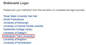 Sage Knolwedge eBook platform - off-campus login
