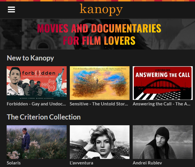 Kanopy - streaming video