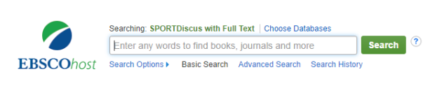 EBSCOhost - SPORTDiscus with full-text
