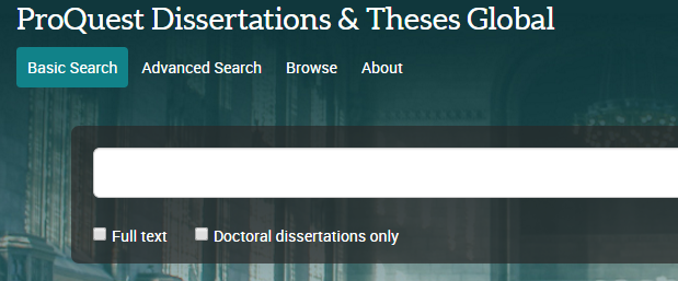 proquest dissertations and theses login Asu theses and dissertations awarded from 1938 to 2010 are found in the asu library catalog and in proquest dissertations and theses @ asu (1938 - 2010) you may check out a copy or view the original (first) copy.