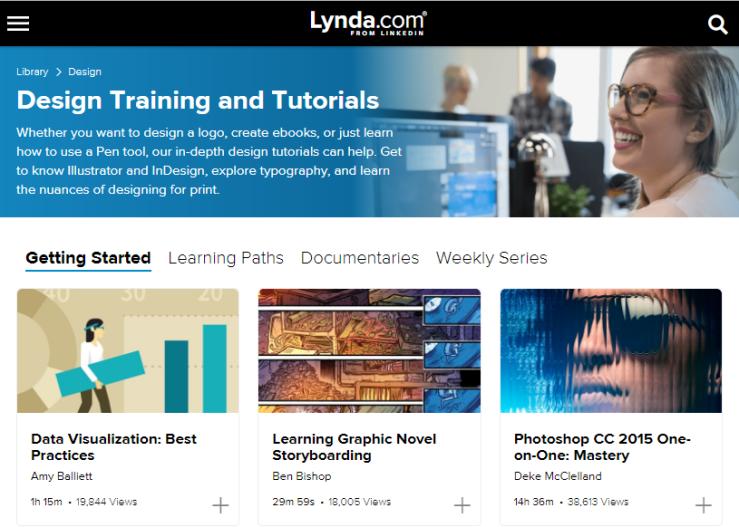 Design courses on Lynda.com