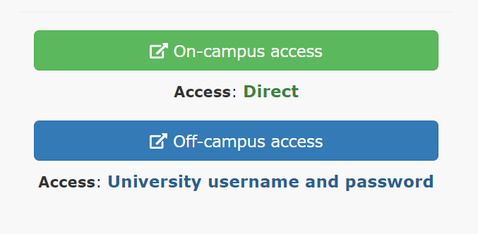 New Find Databases - external links