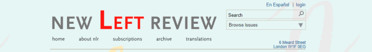 New Left Review homepage