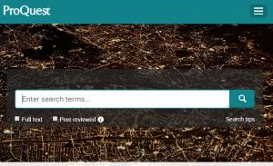 Search ProQuest platform