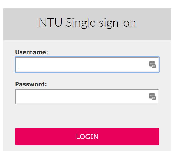 NTU Single sign-on