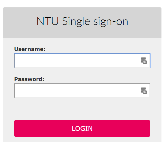 NTU Single sign-on
