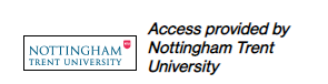 MIT Press Journals - access provided by Nottingham Trent University