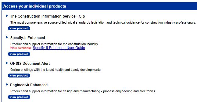 The Construction Information Services platform