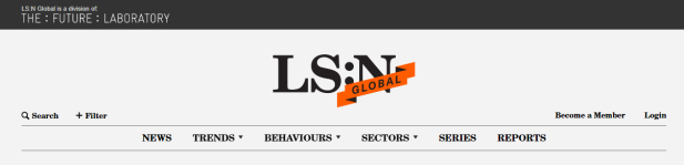 LS:N homepage with Login text