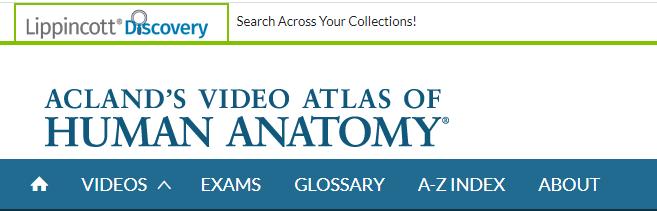 Acland's Video Atlas of Human Anatomy header