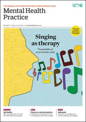 Front cover of Mental Health Practice journal